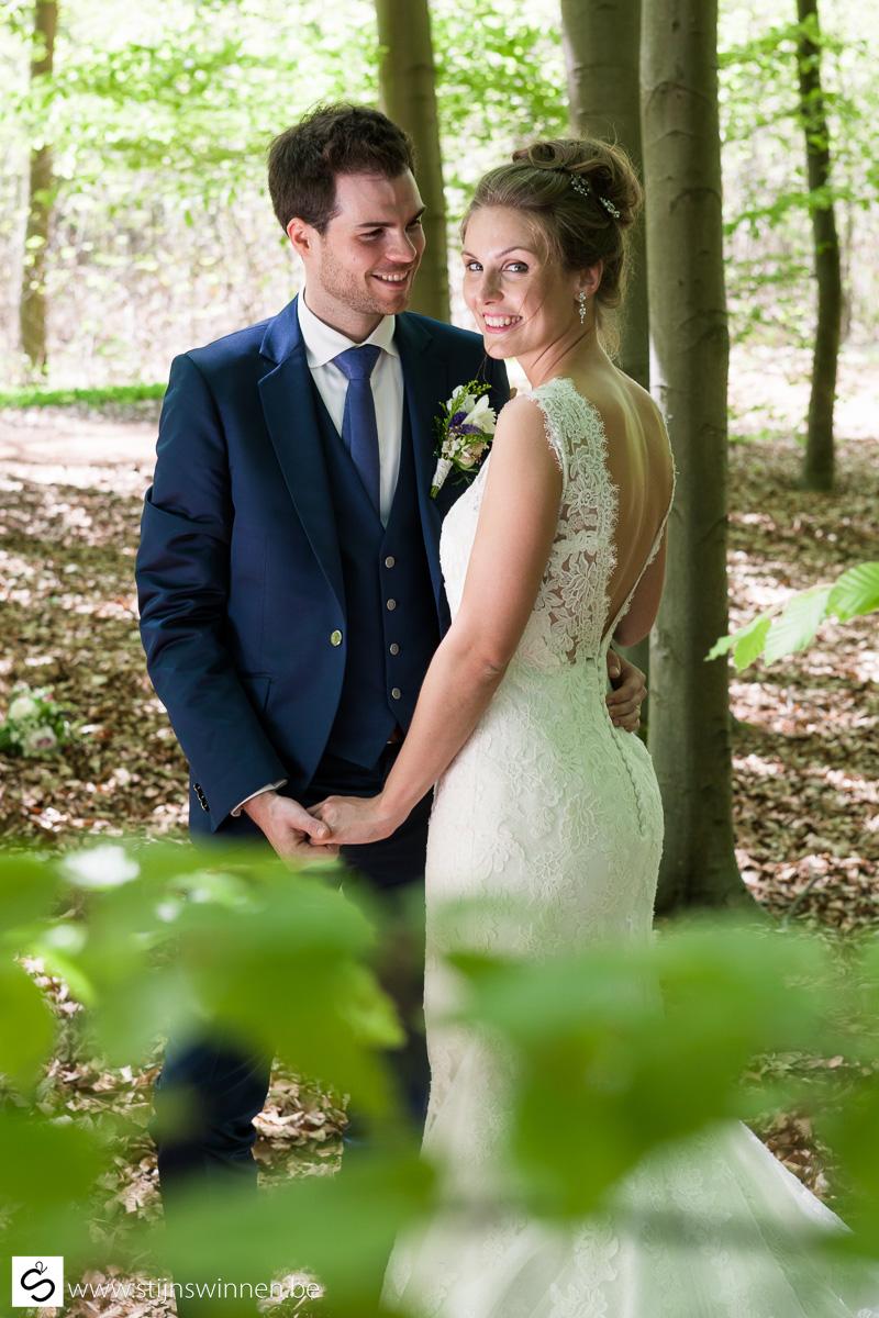 Fotosessie met Karen en Wim in het bos