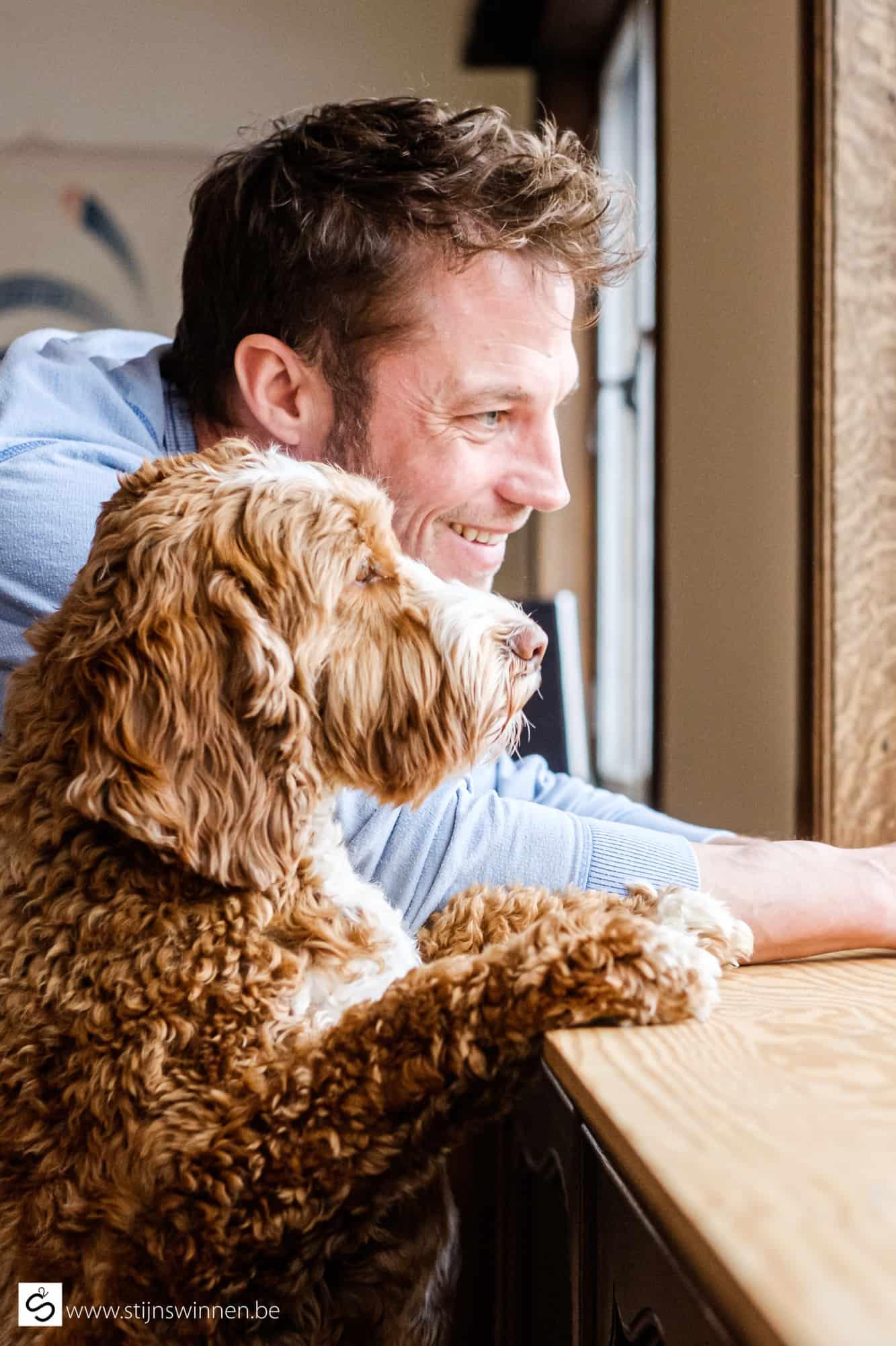Matthias Coppens met hond