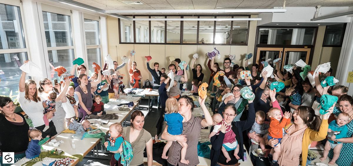 Werelrecord Diaper Change te Mechelen