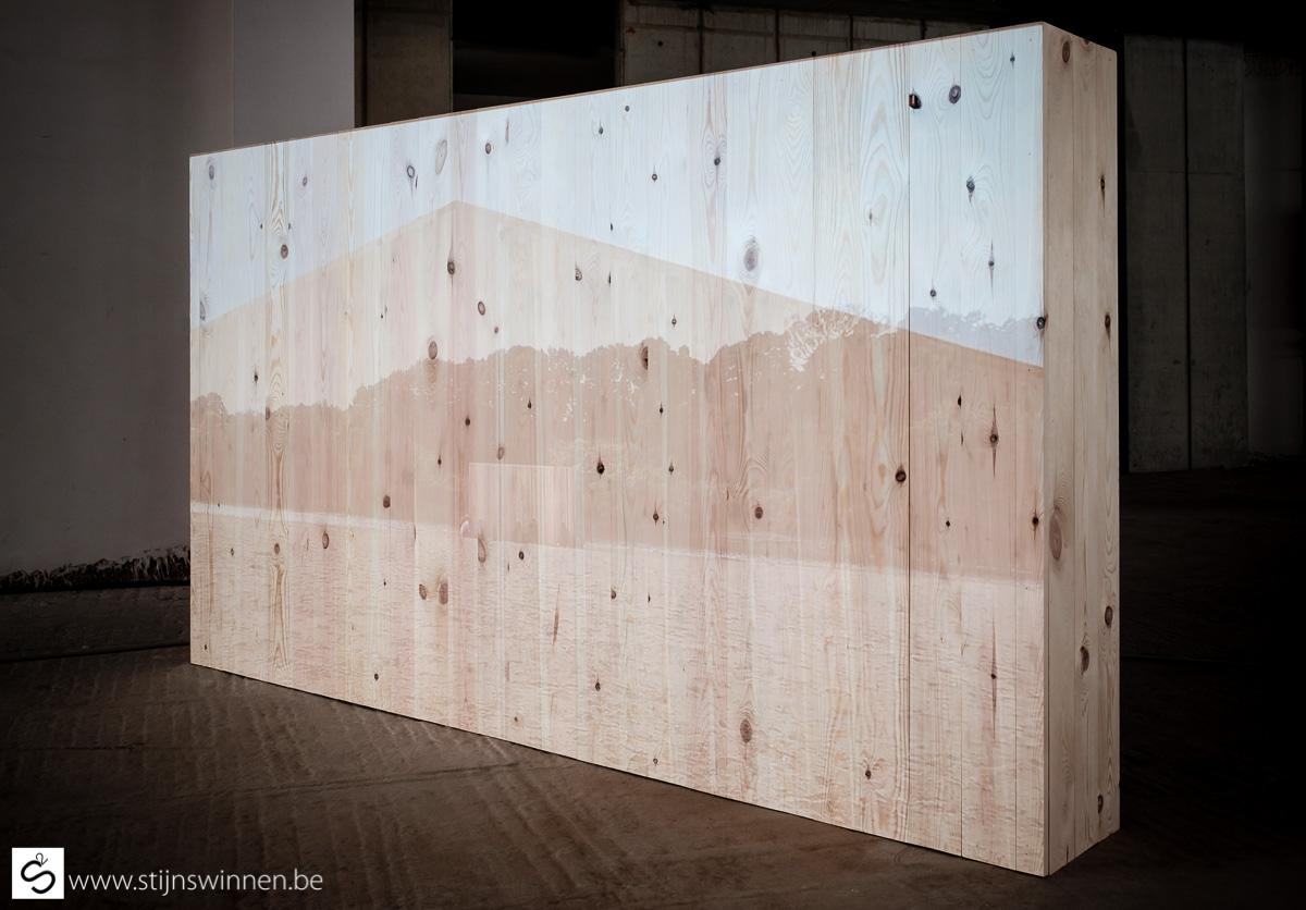 Installatie kunstwwerk voor Contour Mechelen