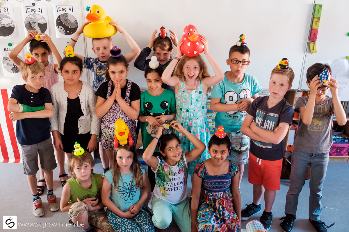 Kinderen in de school de Lage Drempel te Mechelen